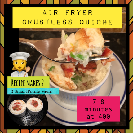 Air Fryer Crustless Quiche for 2 Quick Reference Guide