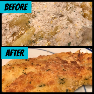 Before cooking & after cooking