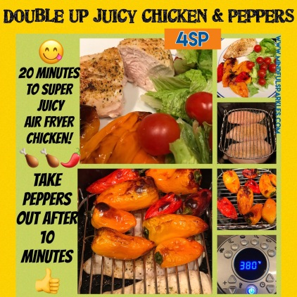 Super Juicy Air Fryer Chicken & Peppers Quick Visual Guide
