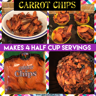 Carrot Chips make a nice garnish.