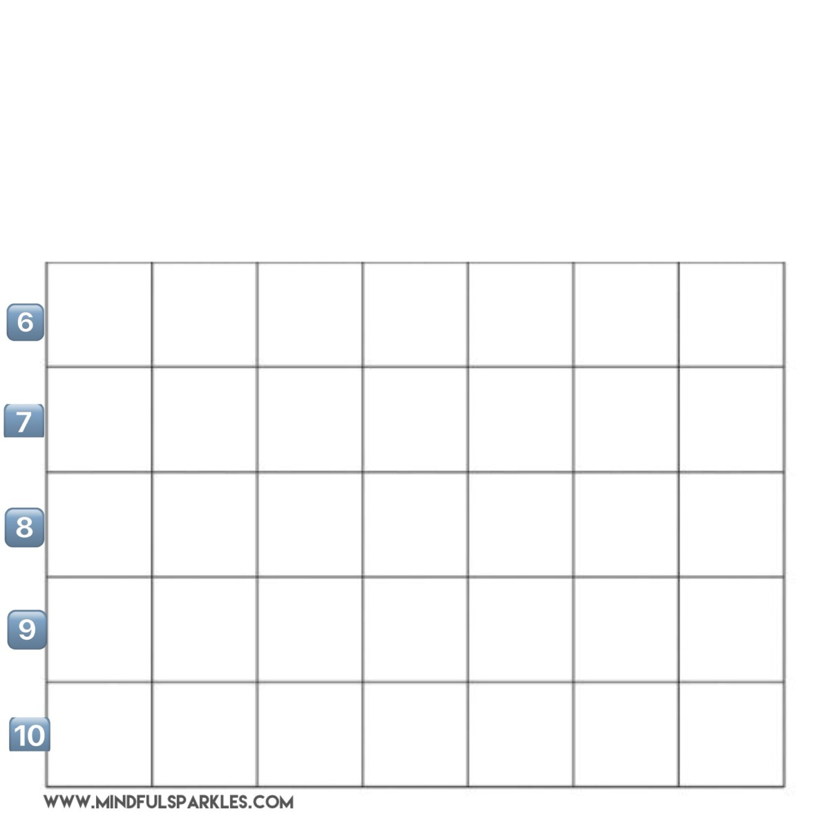 Blank Grid Numbered 6-10